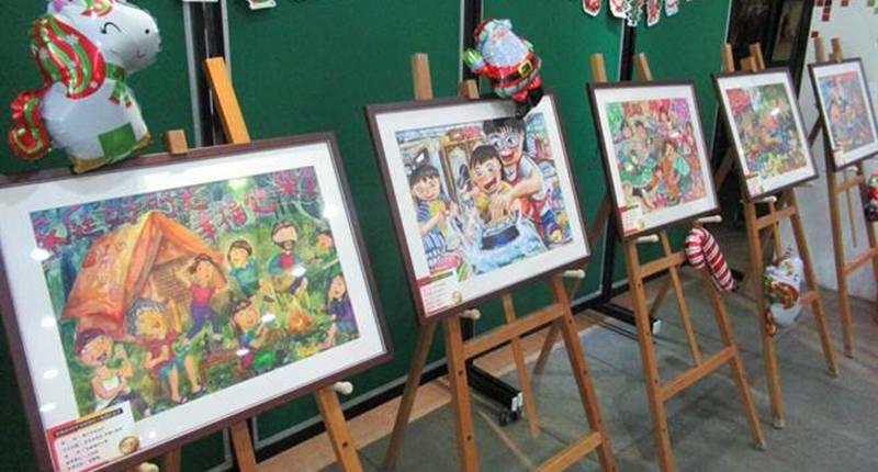台南市家庭教育中心舉辦的「深耕學校家庭教育學生主題創作」徵選活動邁入第5年,今年從1256件作品中,選出33件優良作品。(莊曜聰攝)